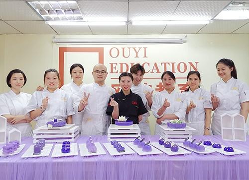 紫色蛋糕系列培训学员